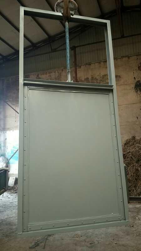 0.5*0.5米钢制渠道闸门