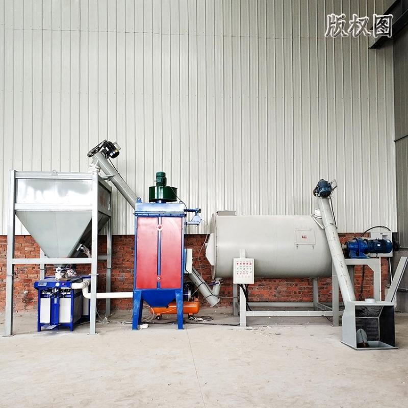 硕冠80吨干粉砂浆搅拌机设备