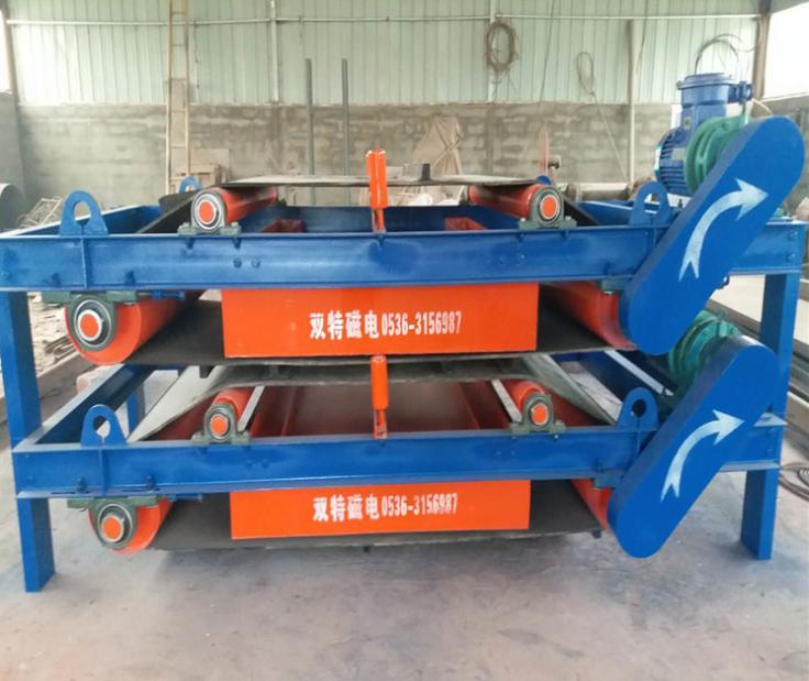 自动永磁除铁器自卸式除铁器 建筑垃圾带式除铁器 悬挂大磁铁RCYD