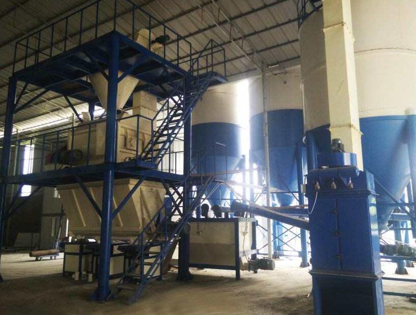 干粉砂浆生产线工作原理