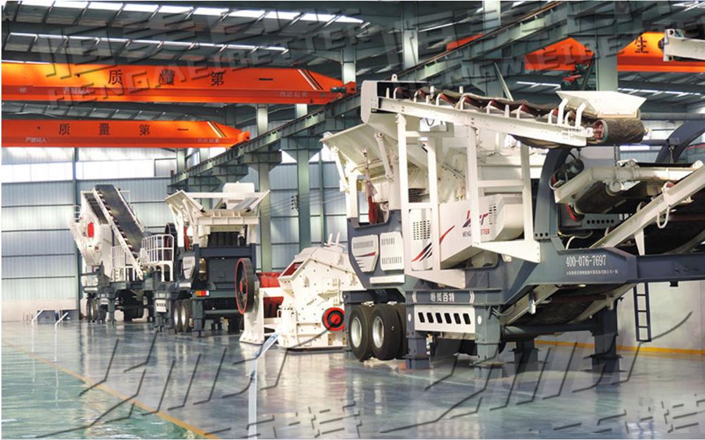 山石移动破碎机厂家 供应北京建筑垃圾粉碎设备 履带式破碎站
