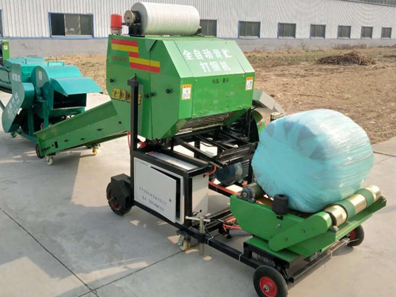 养殖牧草青储打捆包膜机,牧草青储发酵设备,全自动牧草青储机生产厂家