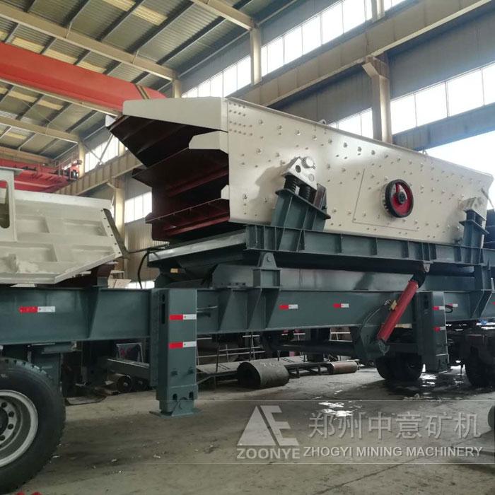 长沙高塘岭建筑垃圾处理设备 流动式移动破碎站破碎机