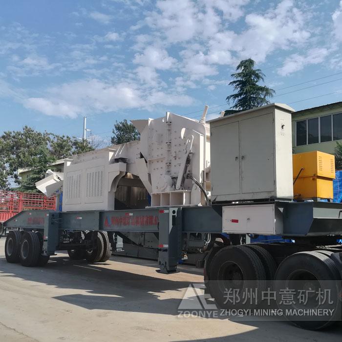 吉林49万移动破碎机一小时处理200吨建筑垃圾现场粉尘少、噪音低