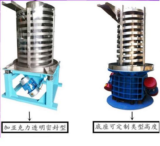 垂直振动提升机可对物料进行冷却降温干燥
