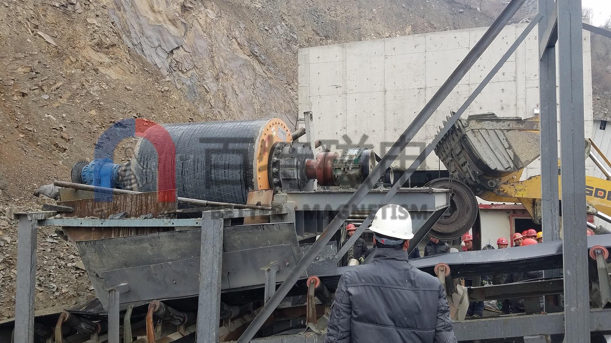 CTDG大块抛废磁选机可以降低矿山的运行生产成本吗