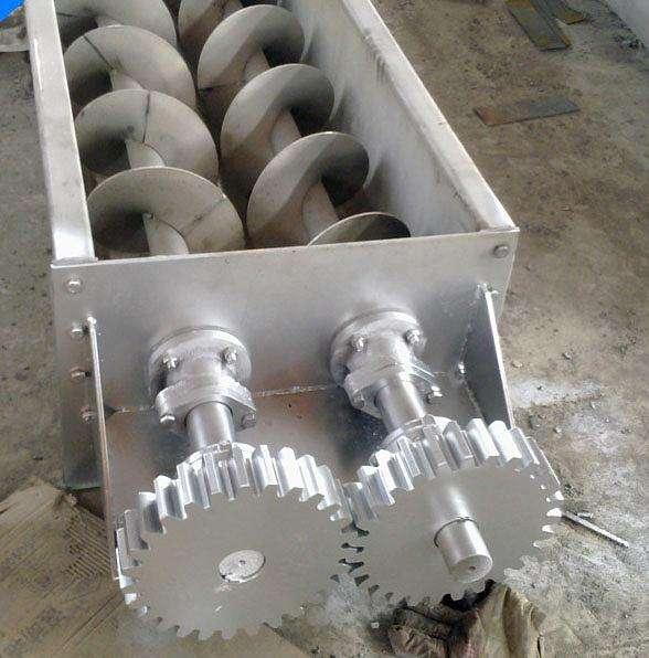 聚合物砂浆双轴螺旋输送机