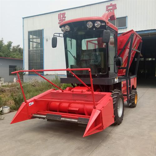 玉米收割轮式青储机 大型青储机生产厂家