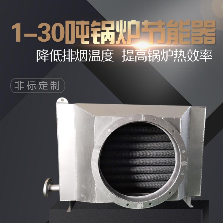 7吨燃气锅炉烟道节能器冷凝器烟气余热回收装置