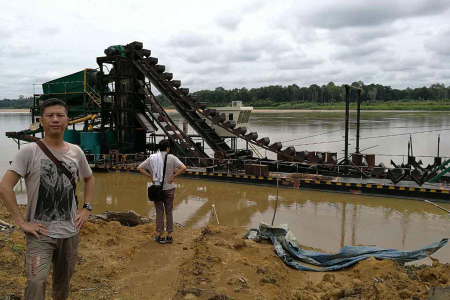 出口俄罗斯挖沙淘金船