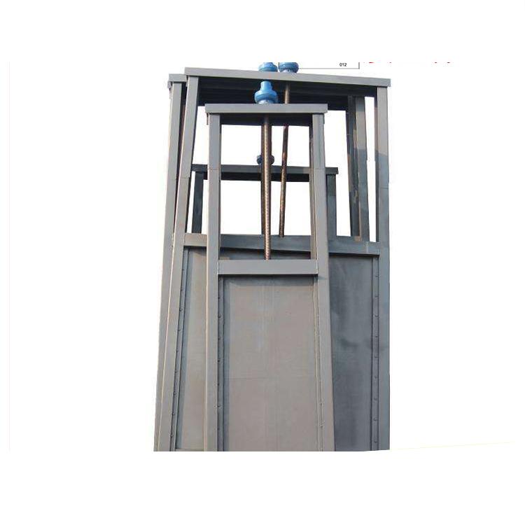 厂家供应0.6*0.8铸铁闸门钢制闸门启闭机河道手动渠道闸门水闸机闸一体式闸门