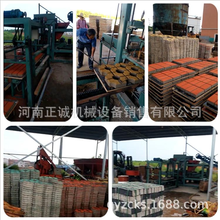 江苏步道砖机现场 正诚机械8-15透水砖机 海绵城市海绵砖机生产线