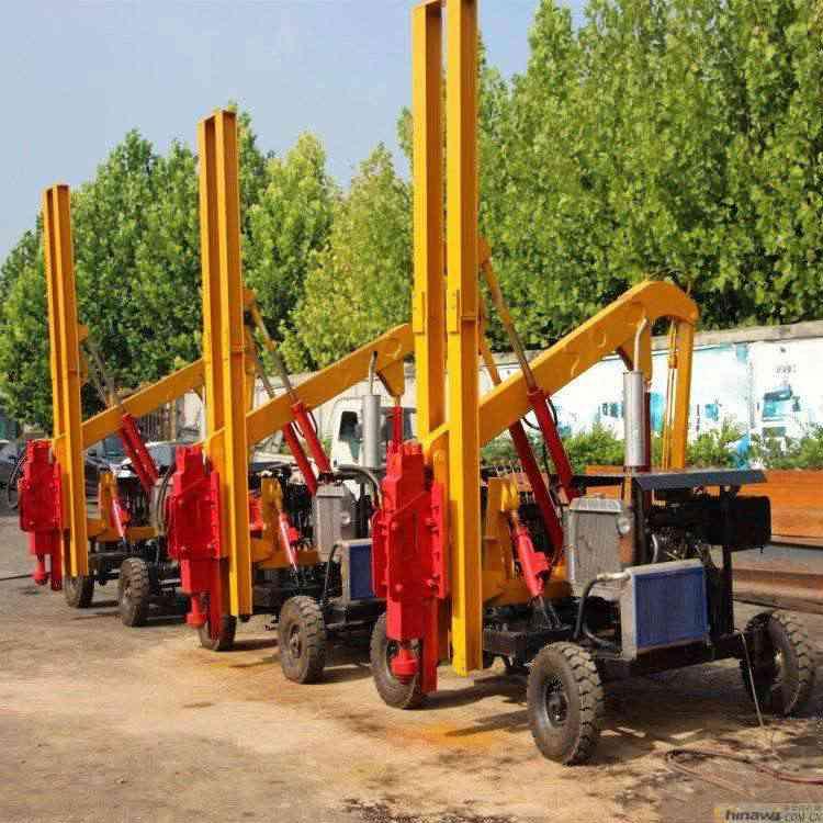 护栏立柱打桩机 防护栏打桩机 护栏打桩机吧 价格