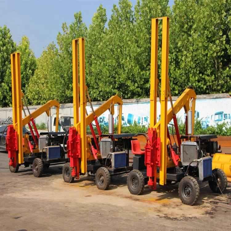 护栏打桩机价格 二手护栏打桩机 徐州护栏打桩机 公路二手护栏打桩机