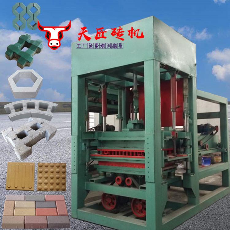多功能3型水泥砖机 免烧砖机 盖房垒墙隔音空心砌块砖机