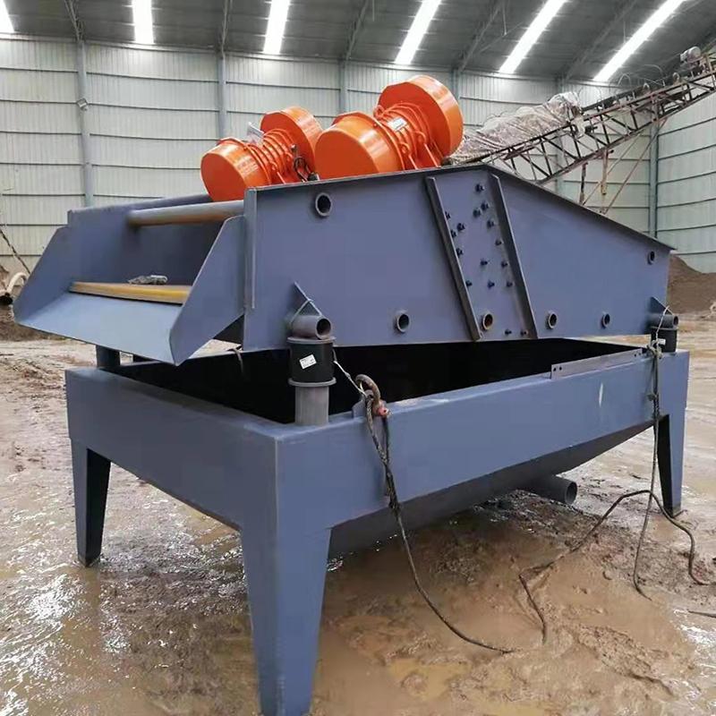 砂石分离直线振动脱水筛 矿山机械振动脱水脱泥设备 工业矿用振动筛