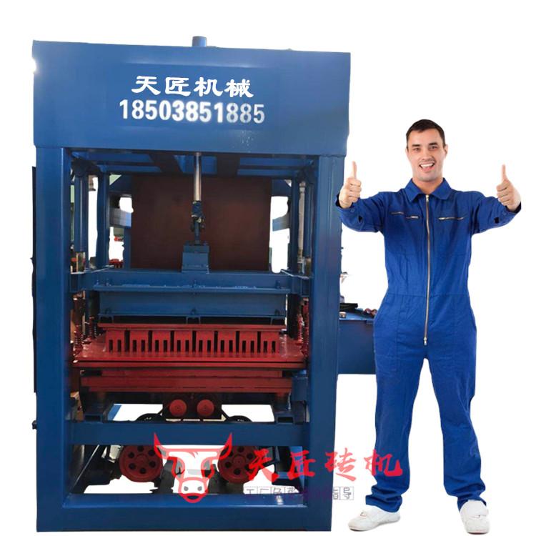 天匠3-15树坑砖机 路沿石砖机 护坡砖机 六角砖机 连锁工字砌块砖机