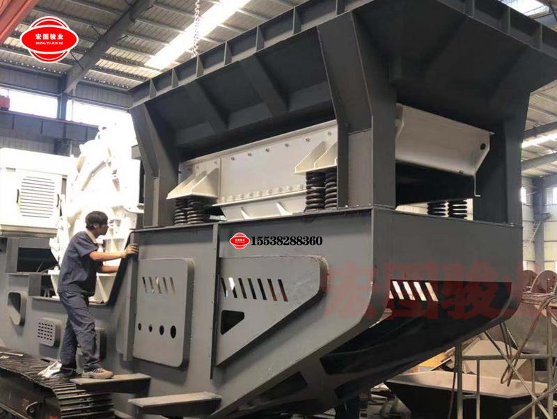 时产50吨移动石子制砂生产线