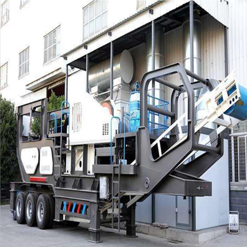 时产100吨河卵石制砂机-大型移动式石子生产线