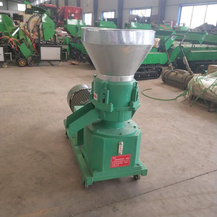 玉米秸秆草粉压粒机 饲料专用颗粒机加工厂家
