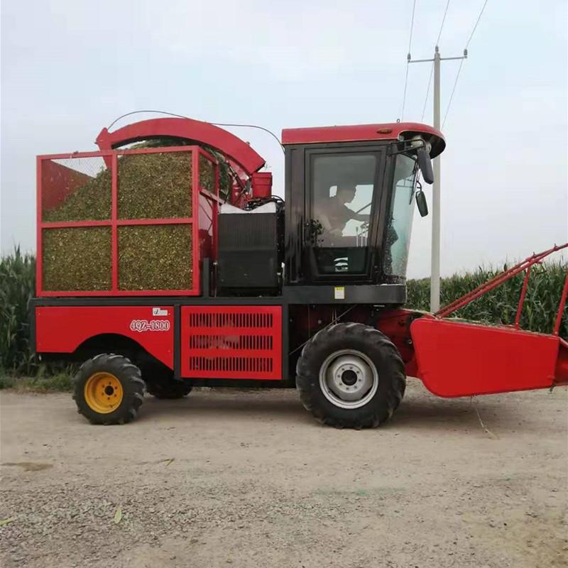 收玉米用的青储机 专业生产青储机 四驱青储机