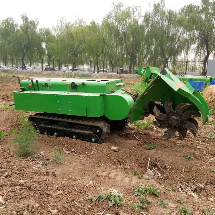 小型农用挖沟机 自走式果园施肥开沟机 履带管理机