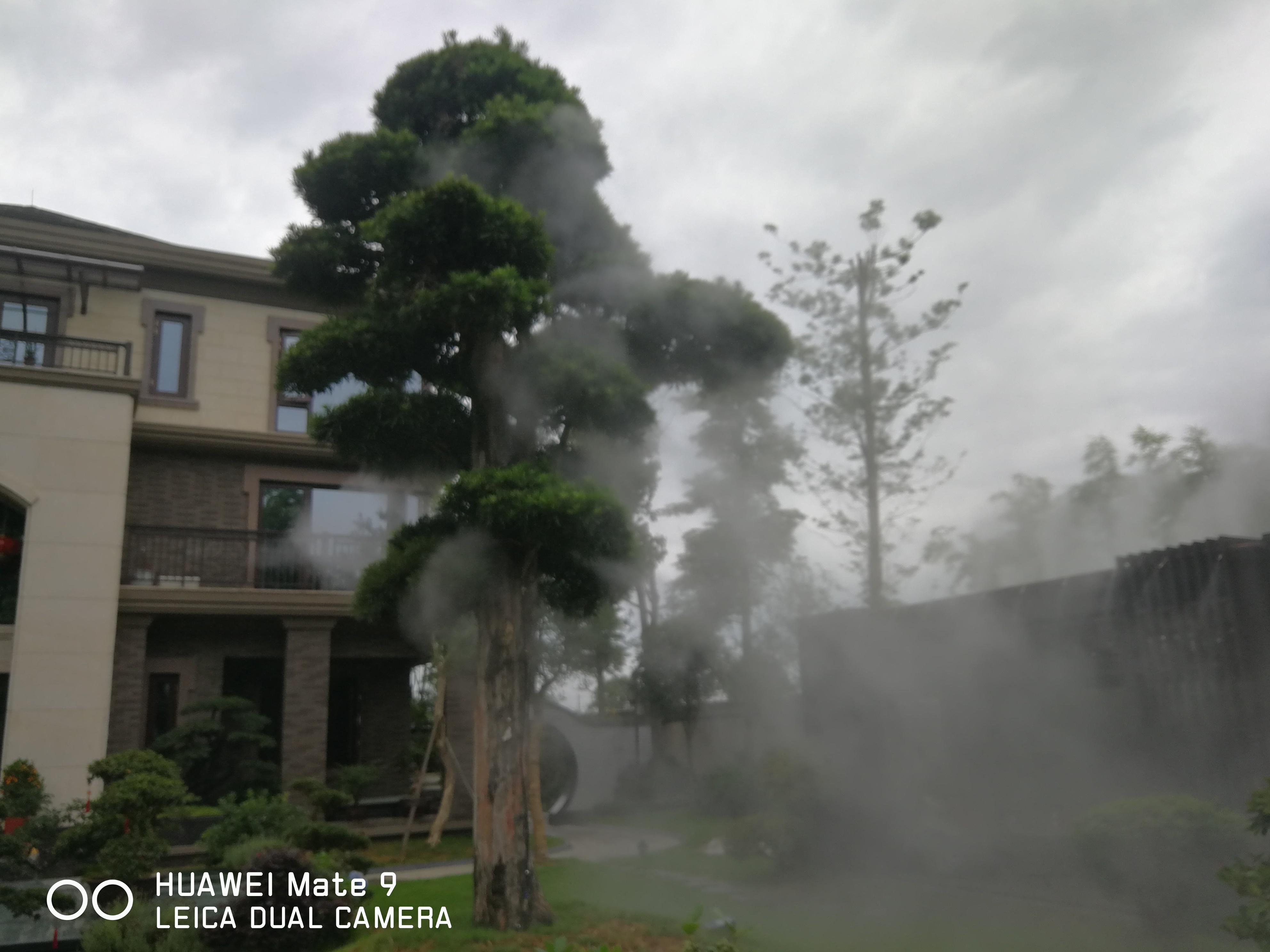四川人工造雾、喷雾景观降温设备厂家