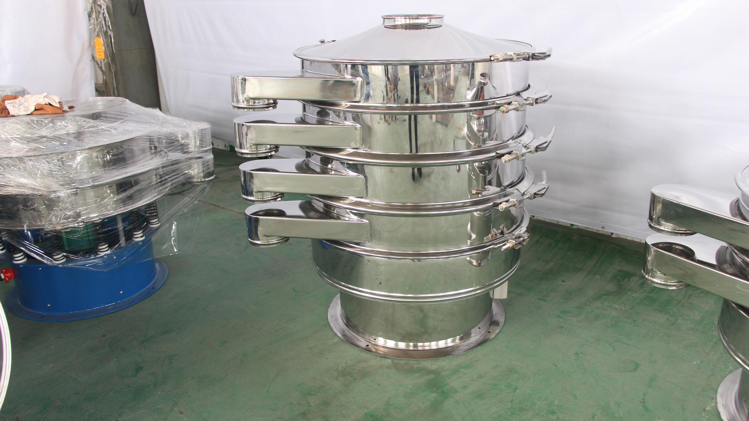 化工用油脱色砂颗粒不锈钢振动筛厂家 按需定制最多可分5级 圆筛筛选机