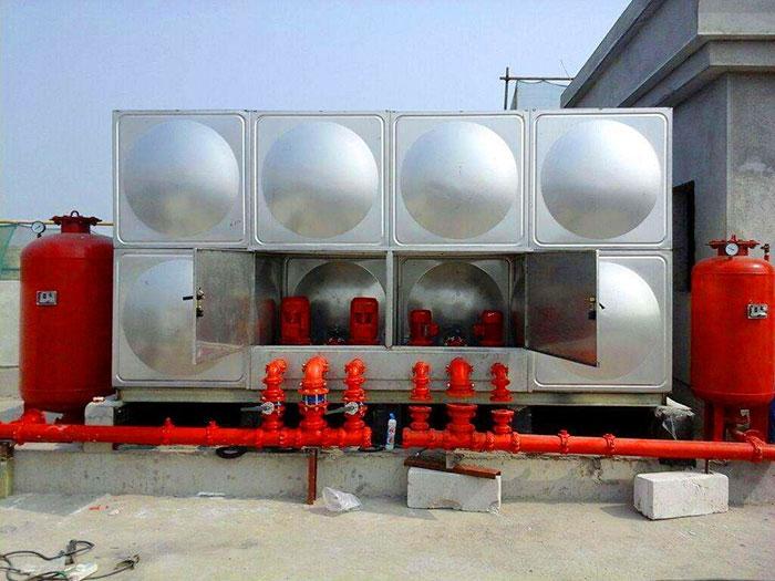 定制304不锈钢方形水箱冲压板球面水箱消防二次供水水箱