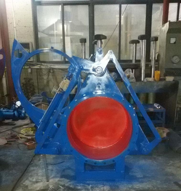 F743X液动盲板阀DN200-1800mm大口径气体介质管道截止阀