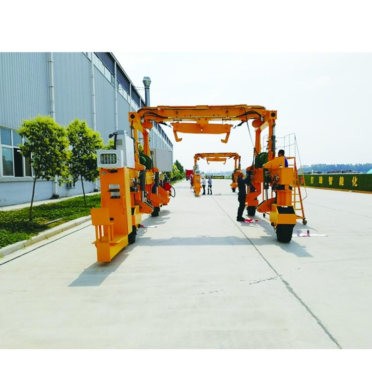 轮胎式轨道铺设起重机