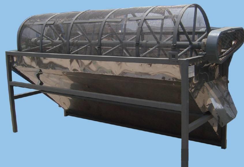 干式滚筒筛-滚筒筛清孔刷滚筒筛筛片滚筒筛托轮厂家直销