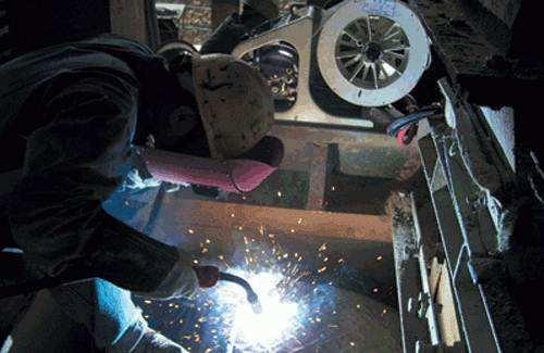 D-65型合金耐磨电焊条 D-65型高铬钼超硬高耐磨堆焊焊条图片