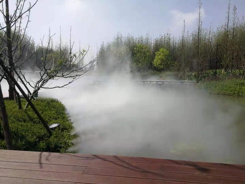 房地产、景区、公园、园林等造雾景观降温设计安装一站式服务