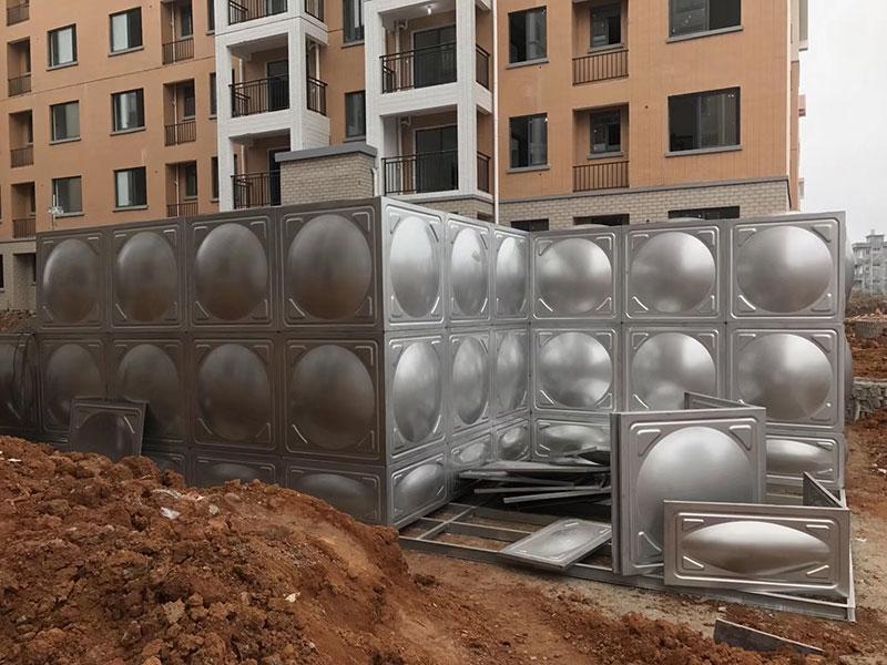 不锈钢水箱304保温18吨立方蓄水长方形拼装配不锈钢水塔消防水箱