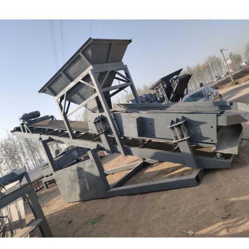 煤矸石直线振动筛 振动筛特点优势报价材质 生产厂家定做