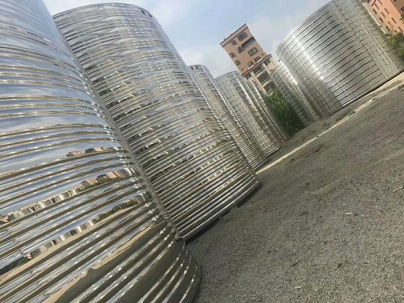 1-9吨不锈钢水箱储水罐空气能保温水塔楼顶定制立卧式304家用水箱
