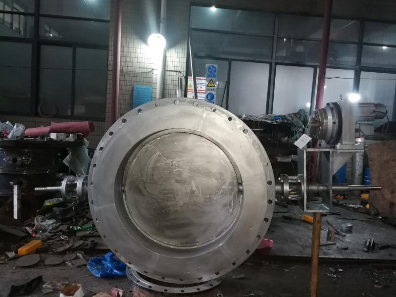 DS9113电动水冷式超高温蝶阀DN150-3000mm厂家定制直销