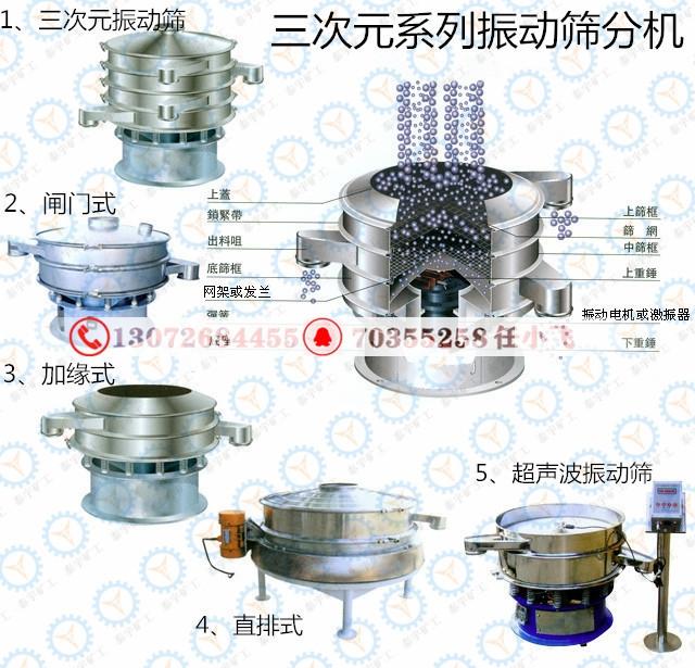 供应粉类精细筛分机,旋振振动筛,圆振过滤筛
