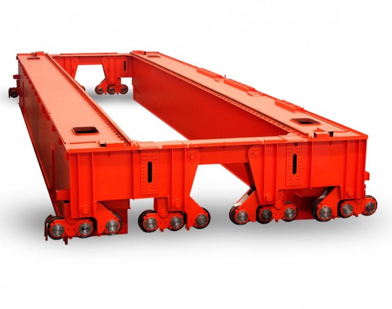 100吨QD型吊钩双梁桥式起重机生产厂家纽科伦起重