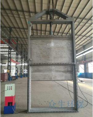 厂家定制大型烟道插板阀,烟气挡板门