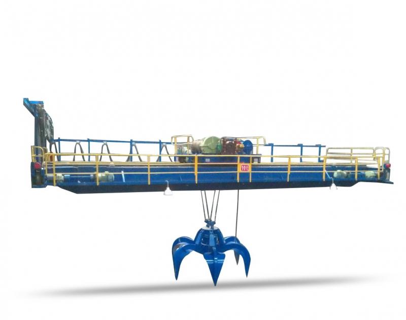 600-4800吨垃圾焚烧处理厂用抓斗桥式起重机