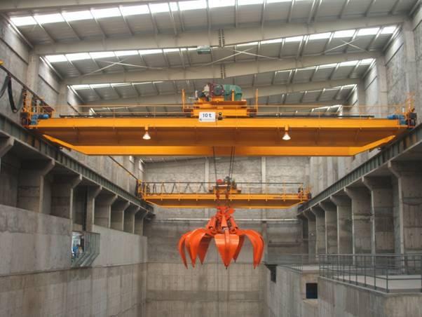 起重机械生产 1200吨垃圾抓斗桥式起重机