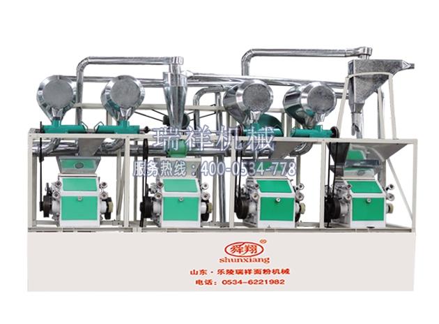 面粉机面粉机组中型面粉机组四组圆筛磨面机