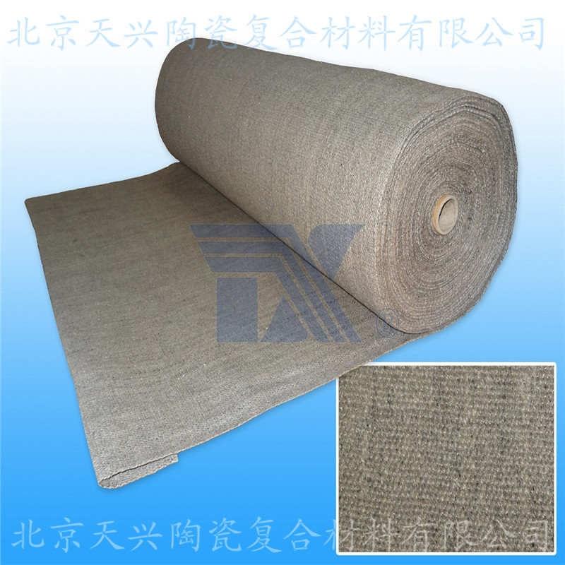天兴 热处理陶瓷纤维布 烧结硅酸铝布 无烟防火布