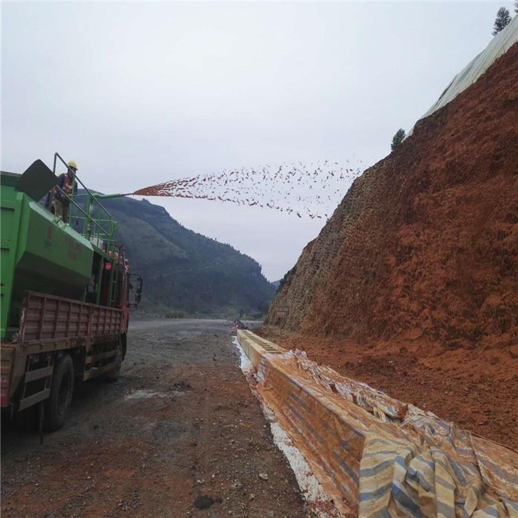 青岛高速绿化种草机 水力喷浆机 石坡绿化团粒喷播机恒睿机械