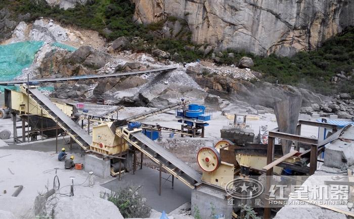 时产600吨花岗岩制砂生产线配置及价格多少Z85