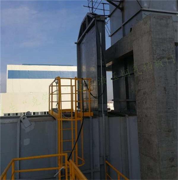 科技产物-电动液压挡板门