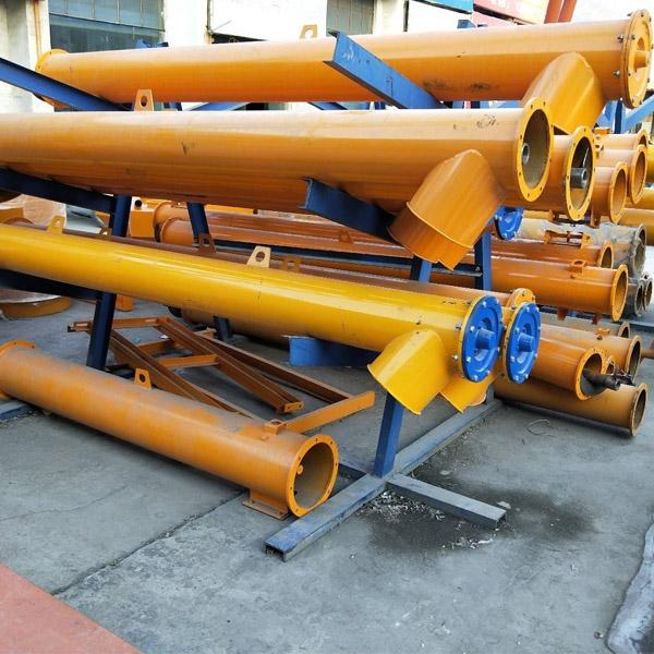 厂家直销 粉状块状物料输送用管式螺旋输送机 无轴绞龙输送机