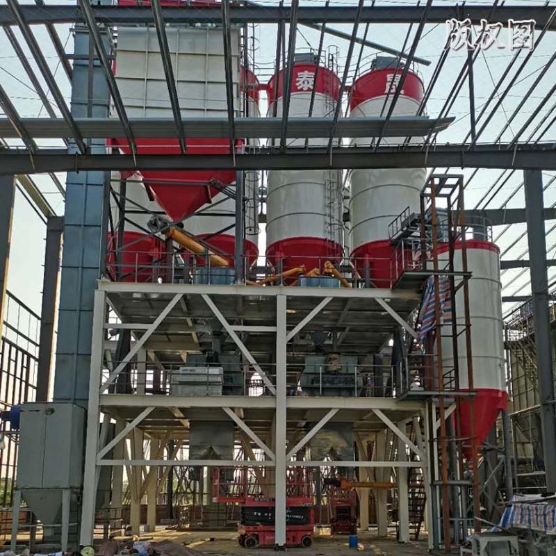 硕冠干粉砂浆生产设备_年产10万吨干粉砂浆生产线